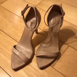 Zara nude leather thin strap sandals sz 38
